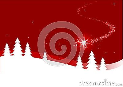 Fondo de la Navidad con la estrella que cierra