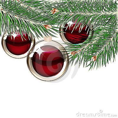 Fondo de la navidad con las bolas transparentes imagen de - Bolas navidad transparentes ...