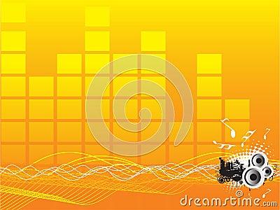 Fondo de la onda acústica