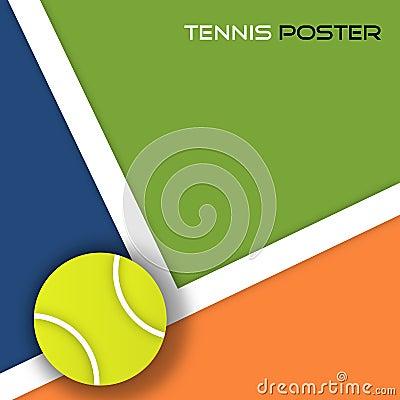 Fondo de la pelota de tenis