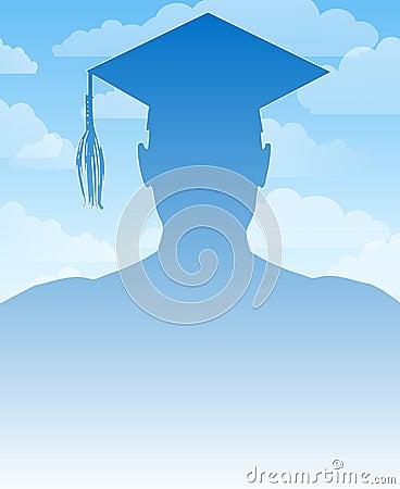 Fondo de la silueta de la graduación