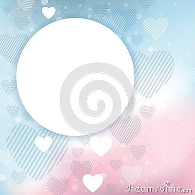 Fondo de la tarjeta del día de San Valentín