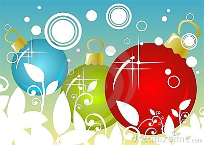 Fondo de las bolas de la Navidad