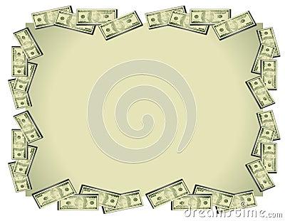 Fondo de las cuentas de dólar del dinero