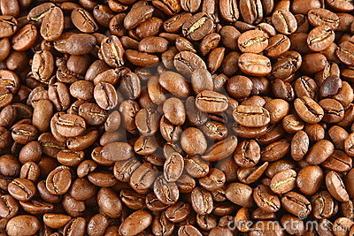 Fondo de los granos de café