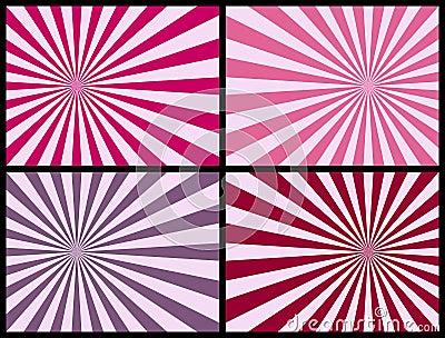 Fondo de los rayos [color de rosa]