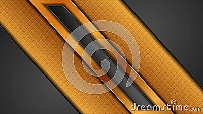 Fondo de movimiento tecnológico abstracto negro y dorado con rayas brillantes metrajes
