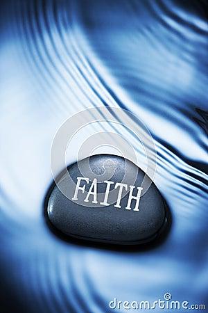Fondo del agua de la fe
