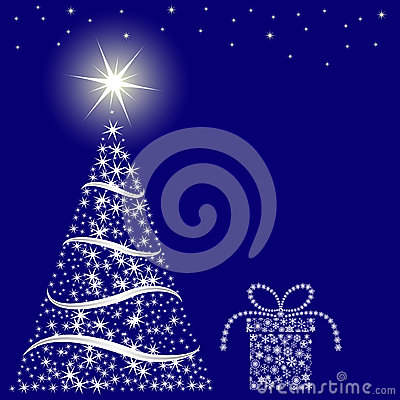 Fondo del azul de la Navidad