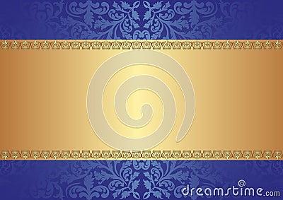 Fondo del azul del oro