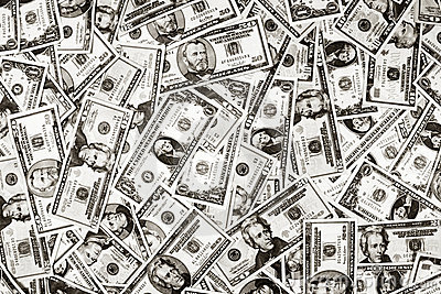 Fondo del dólar del dinero de los E.E.U.U.