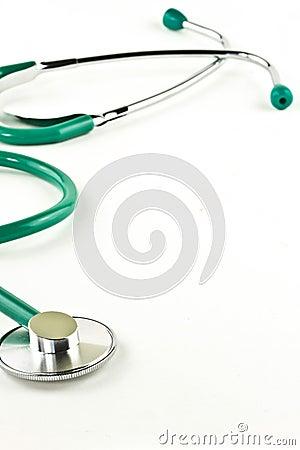 Fondo del estetoscopio del doctor