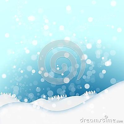 Fondo del invierno de la nieve