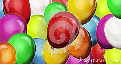 Fondo dinámico de los globos del partido para el ui del juego