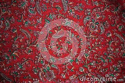 Seda floral de la India del vintage
