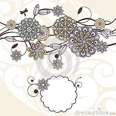 Fondo floral encantador