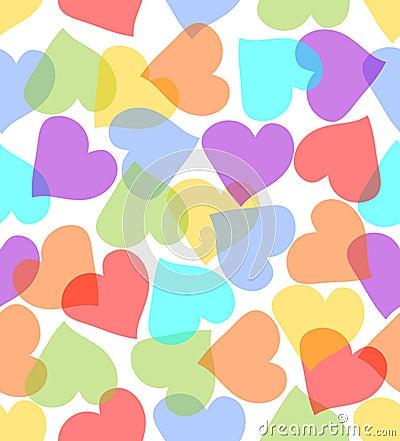 corazones de colores fondo - photo #17