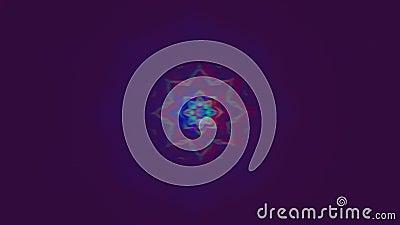 Fondo iridiscente de moda futurista geométrico del gráfico del movimiento metrajes