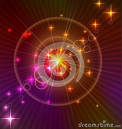 Fondo ligero abstracto con los círculos