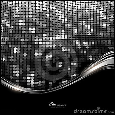 Fondo negro, blanco, de plata abstracto del brillo