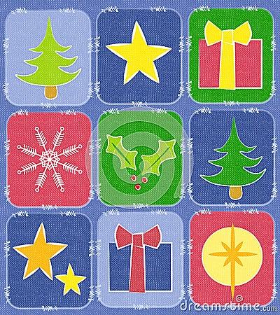 Fondo rústico del edredón de la Navidad