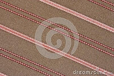 Fondo rayado diagonal de la tela