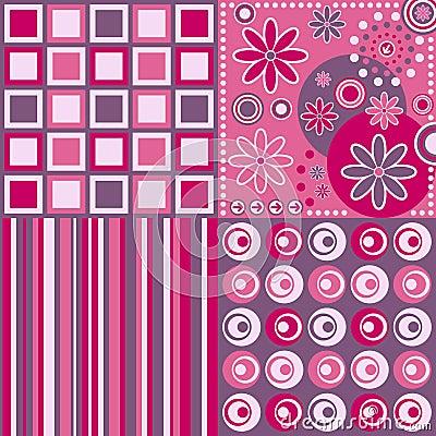 Fondo retro [color de rosa]