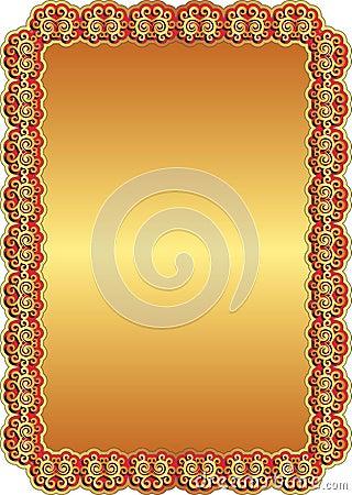 Fondo rojo de oro