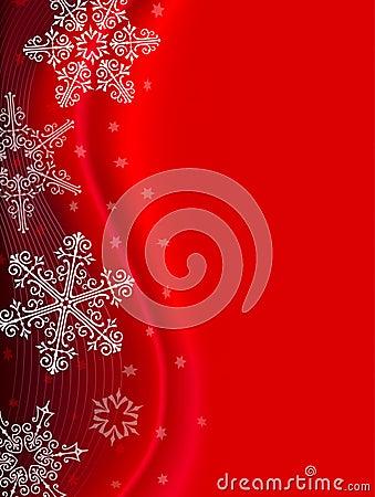 Fondo rojo del copo de nieve