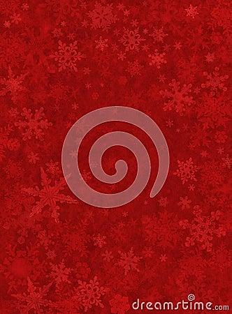 Fondo rojo sutil de la nieve