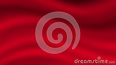 fondo rosso molle delle onde 4K    Animazione di ciclaggio stock footage