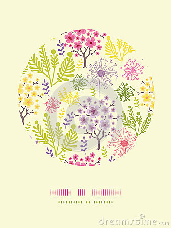 Fondo sbocciante del modello della decorazione del cerchio degli alberi