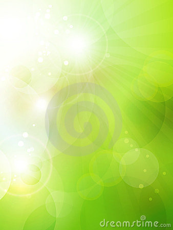 Fondo verde abstracto del bokeh