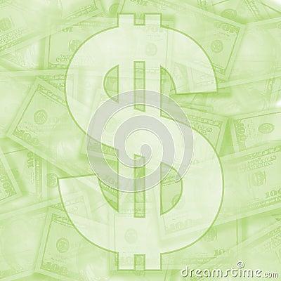 Fondo verde claro del dinero