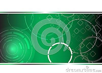 Fondo verde de alta tecnología abstracto