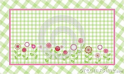 Fondo verde de la tela escocesa