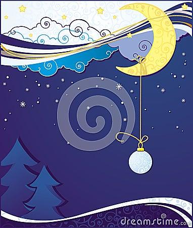 Fondos azules de tarjeta de Navidad