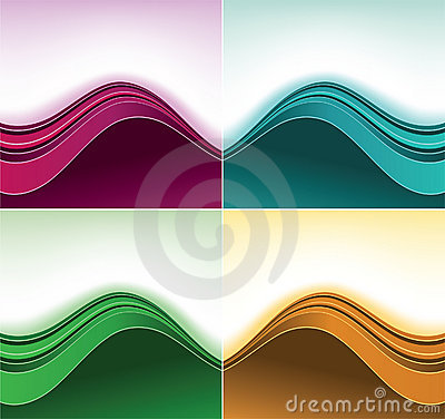 Fondos de la curva del color