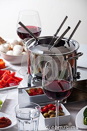 Table à fondue