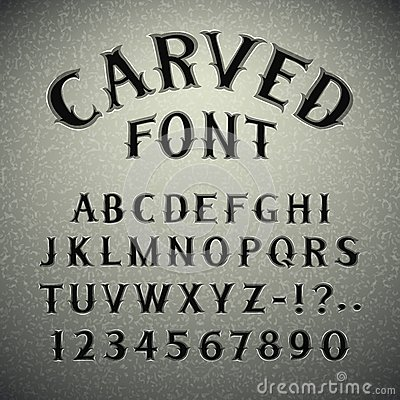 Free Font Carved In Stone Stock Images - 45756114