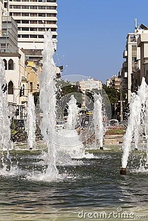 Fontaine d Alenbi Image stock éditorial