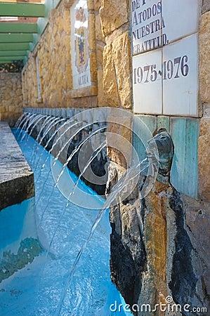 Fontaine de borne limite