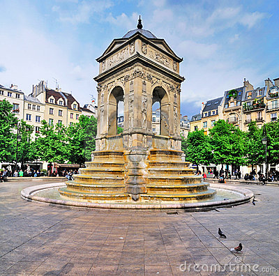 Fontaine des Innocents, Paris Editorial Image
