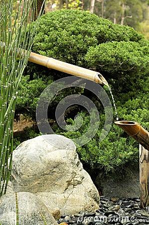 Fontaine en bambou images libres de droits image 983929 - Fontaine en bambou ...