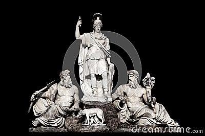 Fontana della Dea Roma tra il Tevere e l Aniene