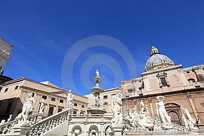 Fontana delle Vergogne in Palermo, Sicily