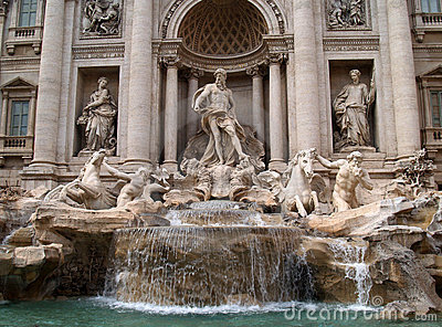 The Fontana di Trevi in Rome
