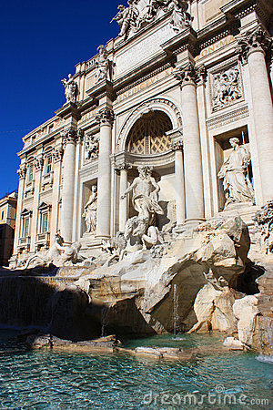 Fontana di Trevi in Rome (Italy)
