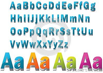 Fonte tipografica 3D