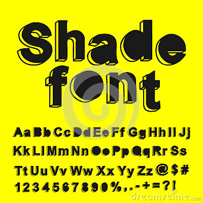 Fonte tipografica astratta dell ombra